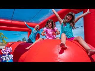 Twins Toys Treasure Hunt With Elsa Princess Elena And
