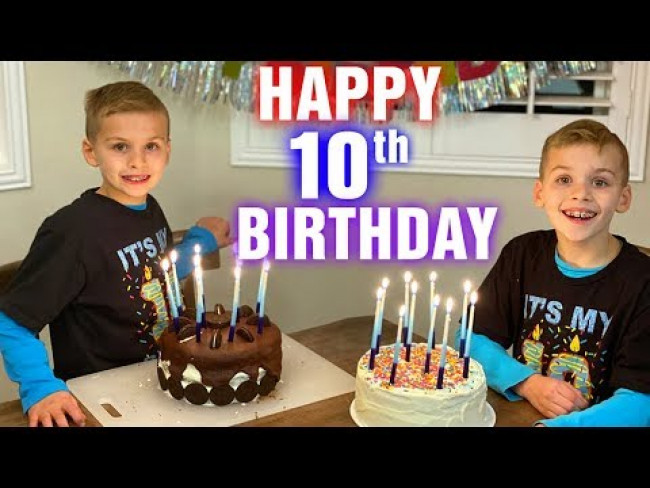 10 Years Old!!  Twins Birthday Special