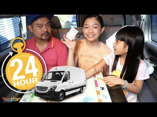 24 HOURS IN THE VAN CHALLENGE | KAYCEE & RACHEL in WONDERLAND FAMILY