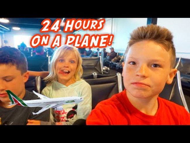 24 hours on a Plane! Ninja Kidz are going to Africa!