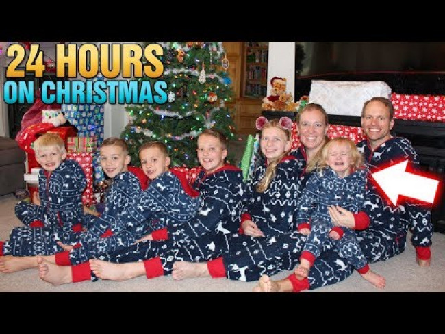 24 Hours with 6 Kids on Christmas!!