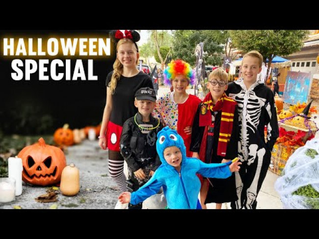 24 Hours with 6 Kids on Halloween 2020