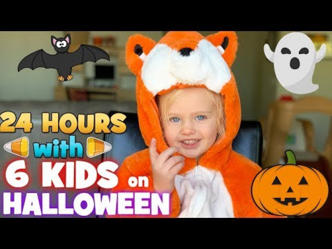 24 Hours with 6 Kids on Halloween!