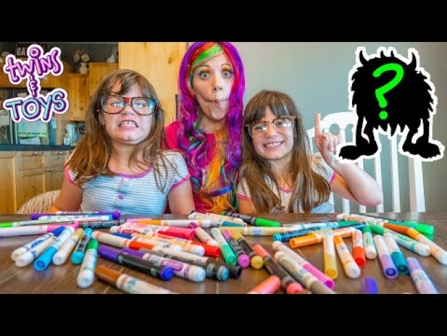 3 Marker Challenge with Princess Lollipop and Kate & Lilly!