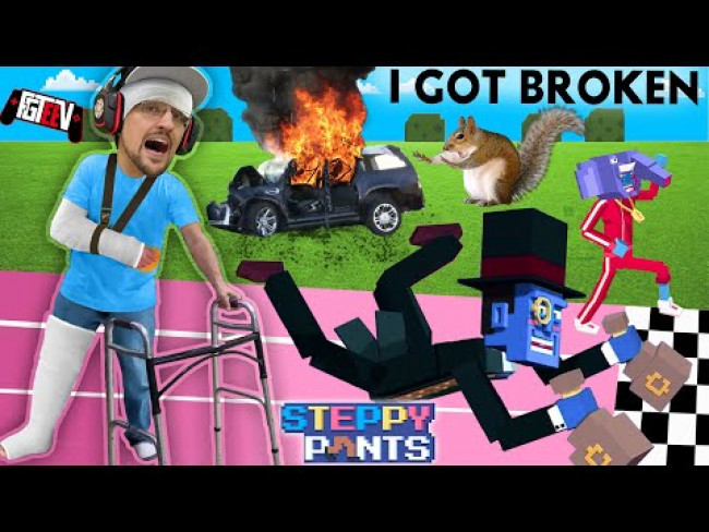 A SQUIRREL RUINED MY LIFE! FGTeeV Forgets How to Walk (STEPPY PANTS Game + Skit)
