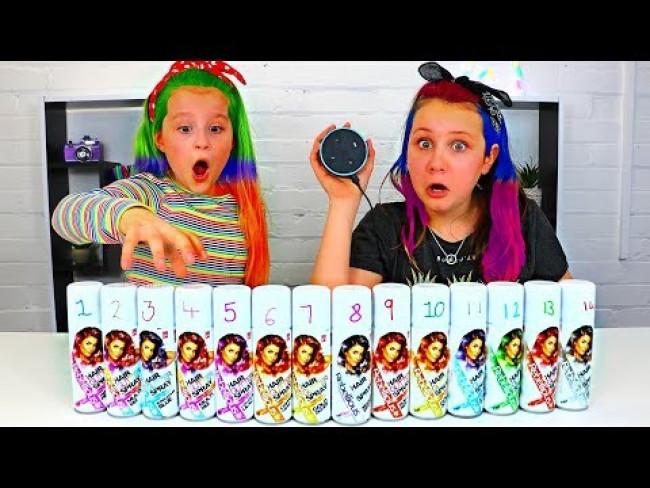 ALEXA Picks Our Glitter Hair Dye Challenge!!!