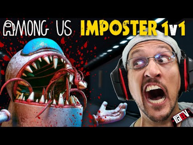 AMONG US but it's TERRIFYING! 1v1 Imposter vs Crewmate Game (FGTeeV Plays IMPOSTER HIDE)