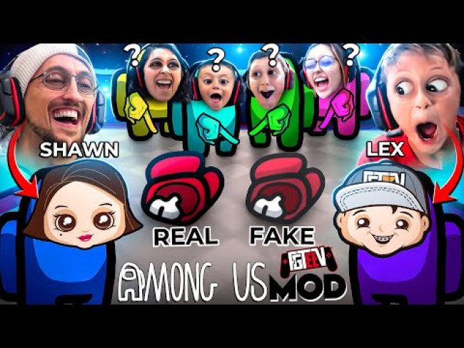 AMONG US but we Modded It! (FGTeeV vs. Fake Bodies Meme Mod)
