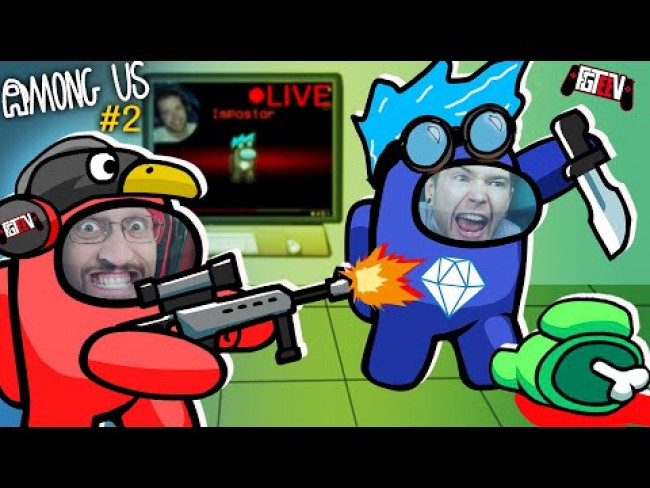 AMONG US: Stream Sniping DanTDM the Imposter [