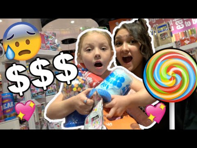 ANYTHING KAIA can CARRY we will BUY it CHALLENGE! CANDY STORE! The TOYTASTIC Sisters. FUNNY KIDS!