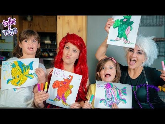 Ariel and Ursula's 3 Marker Challenge!!