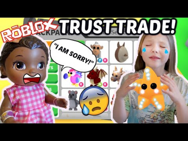 BABY ALIVE does a TRUST TRADE in ADOPT ME! TRADES ALL of MOMMY'S PETS?!? The Lilly and Mommy Show!