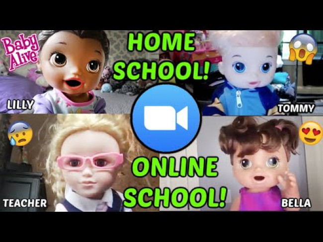 BABY ALIVE does HOME SCHOOL! ZOOM MEETING with TEACHER! The Lilly and Mommy Show! FUNNY KIDS SKIT!