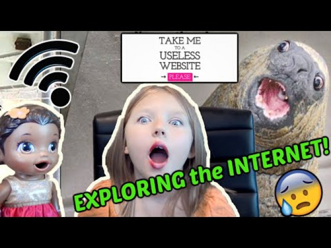 BABY ALIVE EXPLORES the INTERNET with USELESS WEBSITES! The Lilly and Mommy Show! FUNNY KIDS SKIT!
