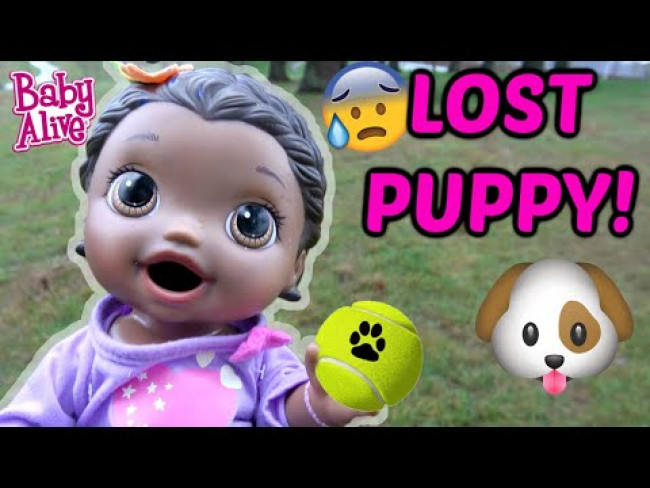 BABY ALIVE FINDS a LOST PUPPY! The Lilly and Mommy Show! The TOYTASTIC Sisters! FUNNY KIDS SKIT!