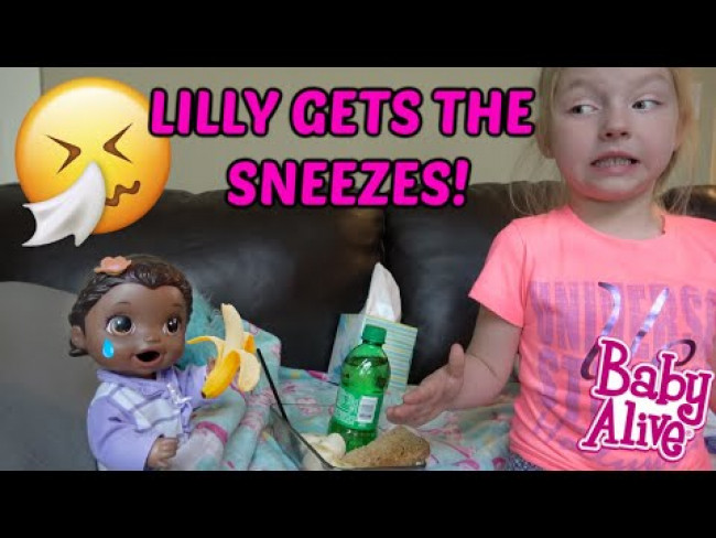 BABY ALIVE gets a COLD (COMPILATION) The Lilly and Mommy Show! The TOYTASTIC Sisters FUNNY KIDS SKIT