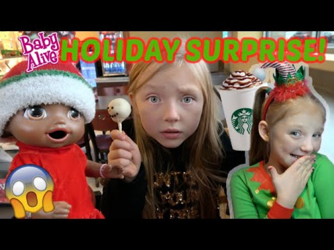 BABY ALIVE gets a HOLIDAY SURPRISE from the ELF! The Lilly and Mommy Show! FUNNY KIDS SKIT!