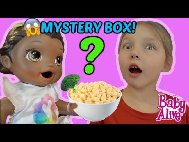 BABY ALIVE gets a MYSTERY BOX! The Lilly and Mommy Show! The TOYTASTIC Sisters. FUNNY KIDS SKIT!