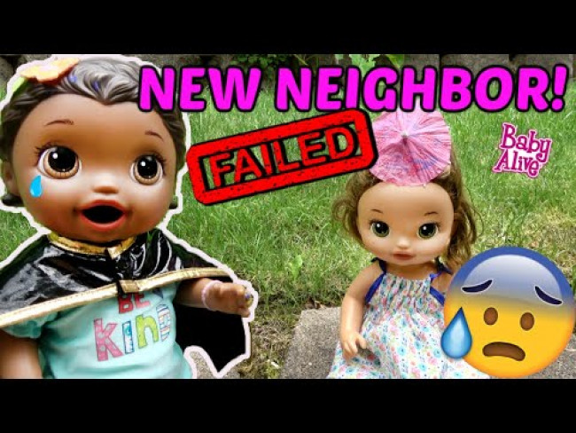 BABY ALIVE gets a NEW NEIGHBOR! FRIENDSHIP FAIL! The Lilly and Mommy Show! FUNNY KIDS SKIT!