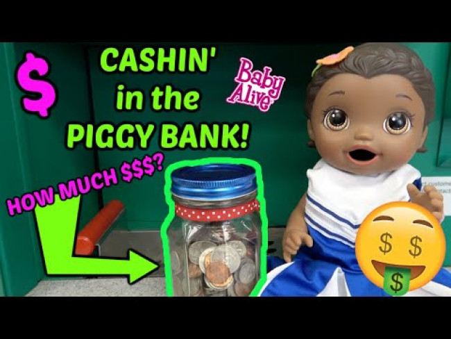 BABY ALIVE gets a NEW TOY! CASHIN' in the PIGGY BANK! The Lilly and Mommy Show! FUNNY KIDS SKIT!