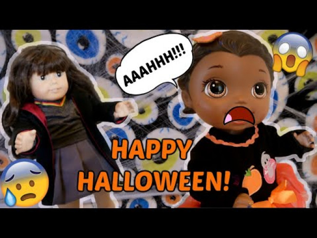 BABY ALIVE gets HALLOWEEN PRANKED! The Lilly and Mommy Show! FUNNY KIDS SKIT! KIDS HALLOWEEN SKIT!