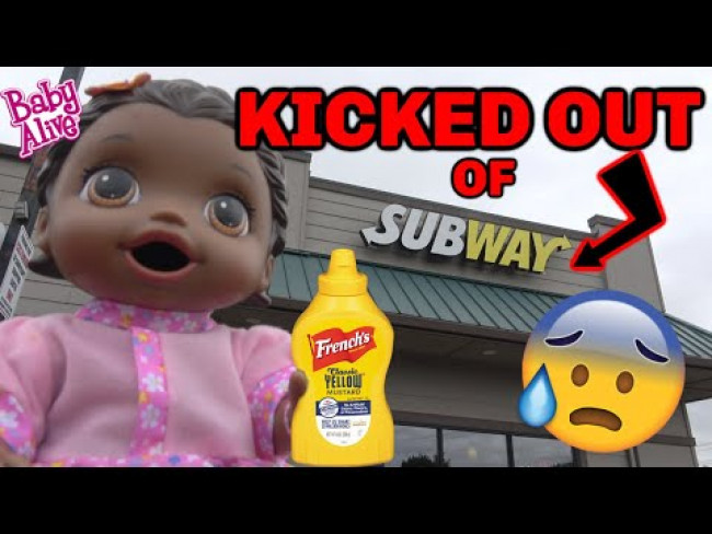 BABY ALIVE gets KICKED OUT of SUBWAY! The Lilly and Mommy Show! The TOYTASTIC Sisters! FUNNY SKIT!