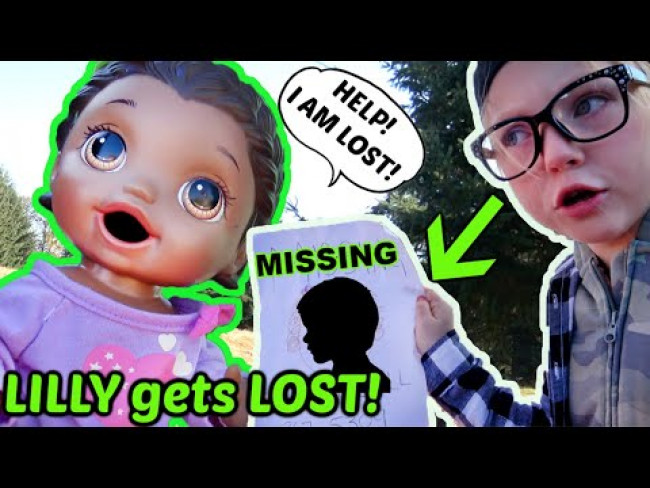 BABY ALIVE gets LOST at the PARK! The Lilly and Mommy Show! FUNNY KIDS SKIT!