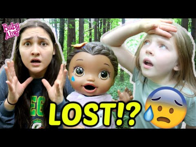BABY ALIVE gets LOST in the FOREST! The Lilly and Mommy Show! FUNNY SKIT SKIT!