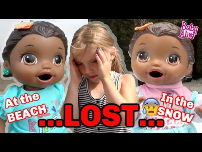 BABY ALIVE gets LOST in the SNOW and at the BEACH (COMPILATION) The Lilly and Mommy Show!