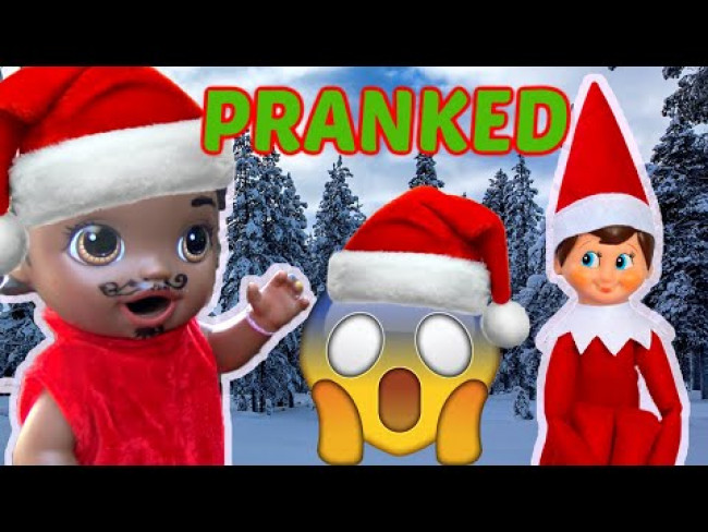 BABY ALIVE gets PRANKED by ELF on the SHELF! The Lilly and Mommy Show! FUNNY KIDS SKIT! CHRISTMAS!