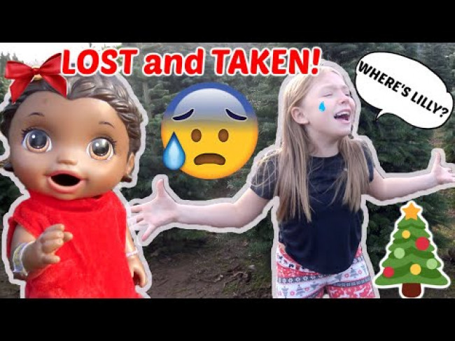 BABY ALIVE gets TAKEN at the CHRISTMAS TREE FARM! The Lilly and Mommy Show. FUNNY KIDS SKIT!