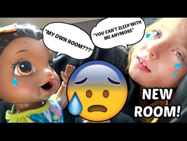 BABY ALIVE gives a HUGE SURPRISE! The Lilly and Mommy Show! AESTHETIC ROOM DECOR! FUNNY KIDS SKIT