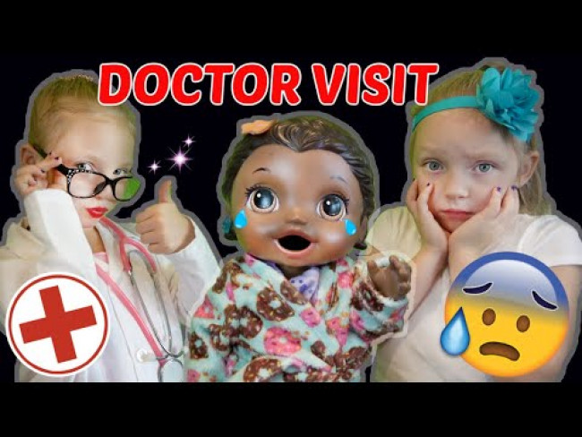 BABY ALIVE goes to the DOCTOR!! The Lilly and Mommy Show. The TOYTASTIC Sisters. FUNNY KIDS SKIT!