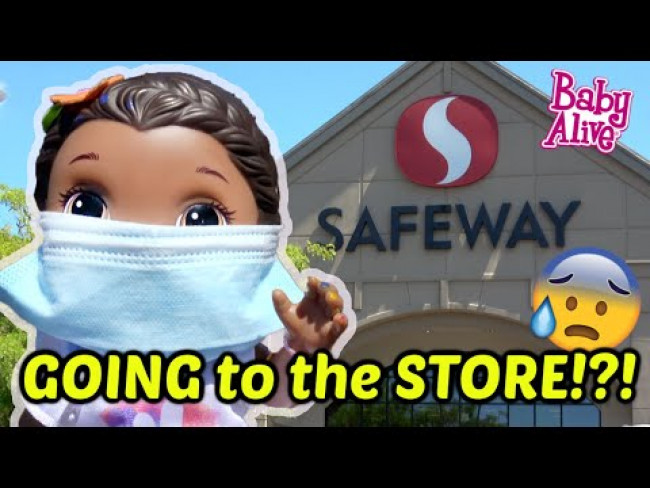 BABY ALIVE goes to the STORE! The Lilly and Mommy Show! FUNNY KIDS SKIT!