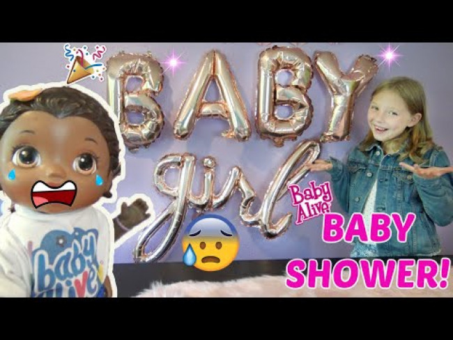 BABY ALIVE has a BABY SHOWER for her NEW SISTERS! The Lilly and Mommy Show! FUNNY KIDS SKIT!