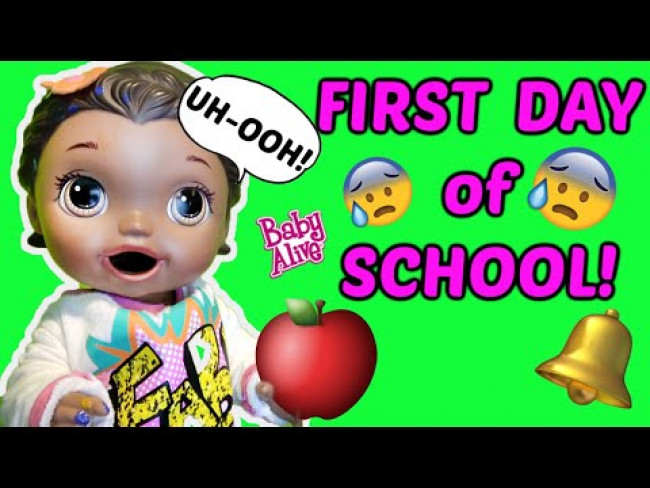 BABY ALIVE has a FIRST DAY of SCHOOL! KINDERGARTEN is HARD! The LILLY & MOMMY Show! FUNNY KIDS SKIT!
