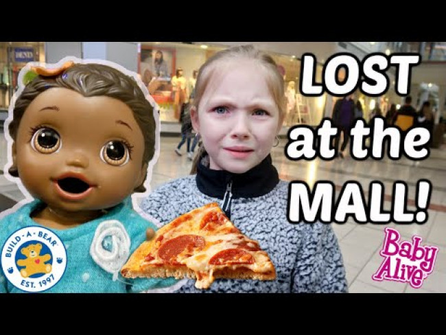 BABY ALIVE has a FUN DAY at the MALL! PIZZA and TREATS! The Lilly and Mommy Show! FUNNY KIDS SKIT!