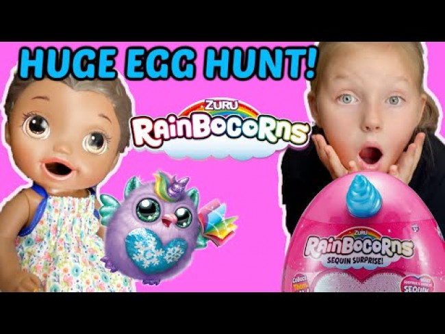 BABY ALIVE has a HUGE EGG HUNT and PLAYS HOT and COLD! The Lilly and Mommy Show! FUNNY KIDS SKIT!