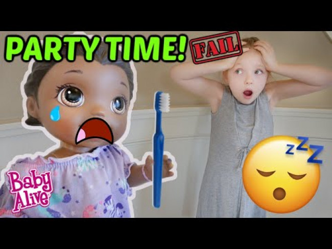 BABY ALIVE has a LATE NIGHT PARTY....AGAIN! The Lilly and Mommy Show. FUNNY KIDS SKIT!
