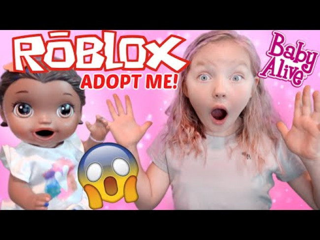 BABY ALIVE has a OTTER PLAYDATE in ADOPT ME! ROBLOX GAMING! The Lilly and Mommy Show FUNNY KIDS SKIT