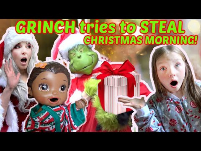 BABY ALIVE has CHRISTMAS MORNING! Mrs.CLAUSE SAVES CHRISTMAS from GRINCH! The Lilly and Mommy Show!