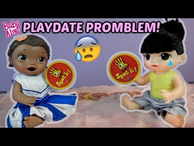 BABY ALIVE has PLAY DATE PROBLEMS! The Lilly and Mommy Show! The TOYTASTIC Sisters! FUNNY KIDS SKIT
