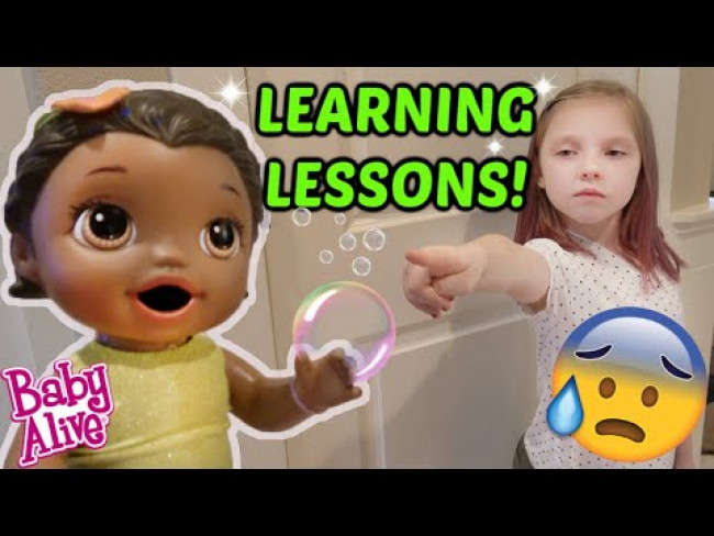 BABY ALIVE LEARNS a LIFE LESSON! The Lilly and Mommy Show! The TOYTASTIC Sisters! FUNNY KIDS SKIT!