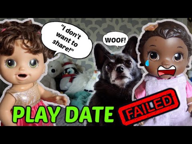BABY ALIVE LEARNS to SHARE! PUPPIES and FAILS! The Lilly and Mommy Show! FUNNY KIDS SKIT!