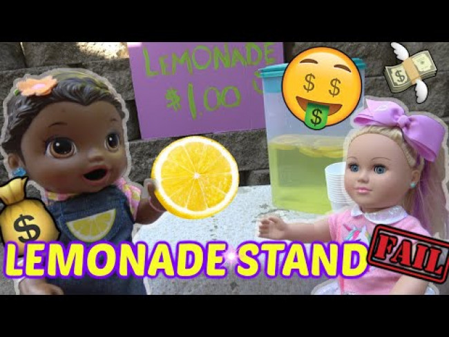 BABY ALIVE makes a LEMONADE STAND. MEETS JOJO SIWA! The Lilly and Mommy Show.The TOYTASTIC Sisters!