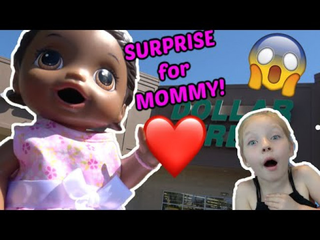 BABY ALIVE makes MOMMY a SURPRISE for MOTHERS DAY! The Lilly and Mommy Show! The TOYTASTIC Sisters!