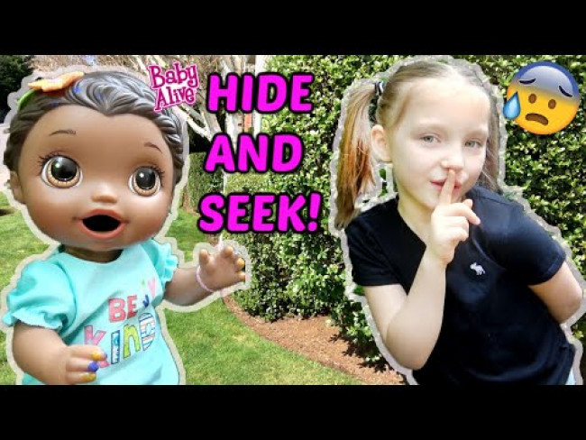BABY ALIVE plays HIDE and SEEK! The Lilly and Mommy Show! The TOYTASTIC Sisters! FUNNY KIDS SKIT!