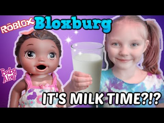 BABY ALIVE PLAYS ROBLOX in BLOXBURG! WHERE'S THE MILK?!? The Lilly and Mommy Show! FUNNY KIDS SKIT!