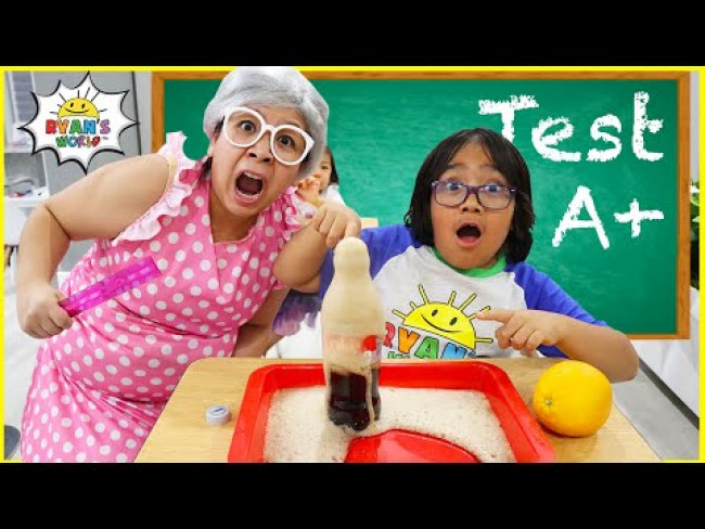 Back To School Test Day 1hr Pretend Play with Ryan's World!!!