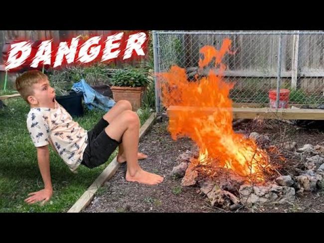 Backyard Bonfire Gone Wrong!